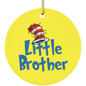 Dr Sesuss Family Christmas Little Brother Ceramic Ornament