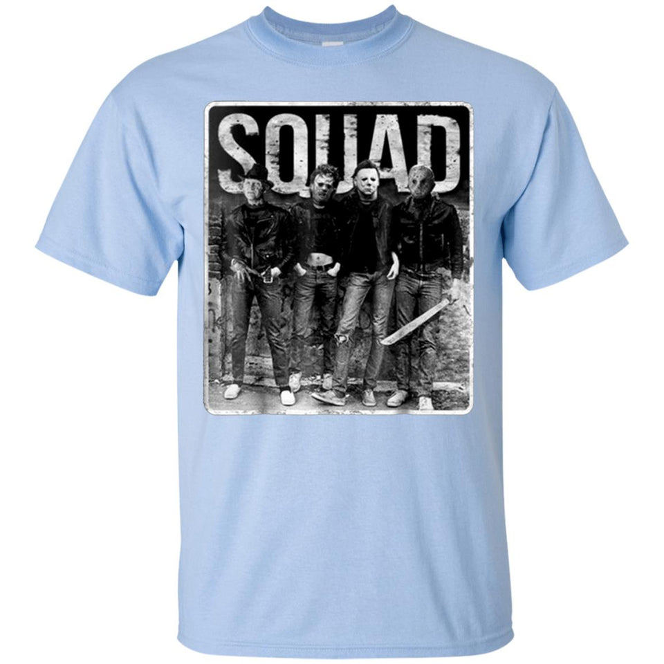 Squad Freddy Krueger Michael Myers And Jason Voorhees White Tee,