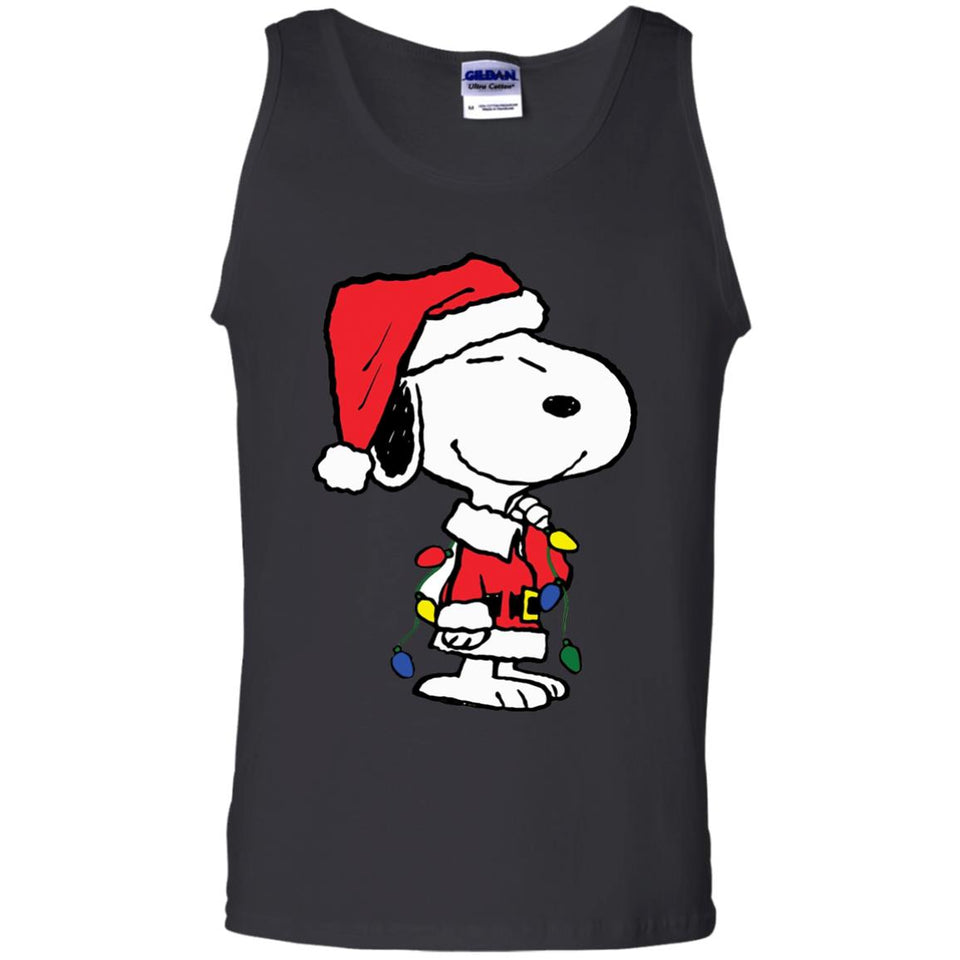 Snoopy Merry Christmas Images.Snoopy Merry Christmas Contrast Tank New Wave Tee