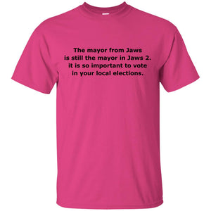 The Mayor From Jaws Is Still The Mayor In Jaws 2 Tee Elections Vote