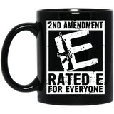 2nd Amendment Ratede For Everyone Mug-New Wave Tee