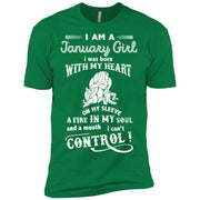 I Am A January Girl I Was Born With My Heart T Shirts