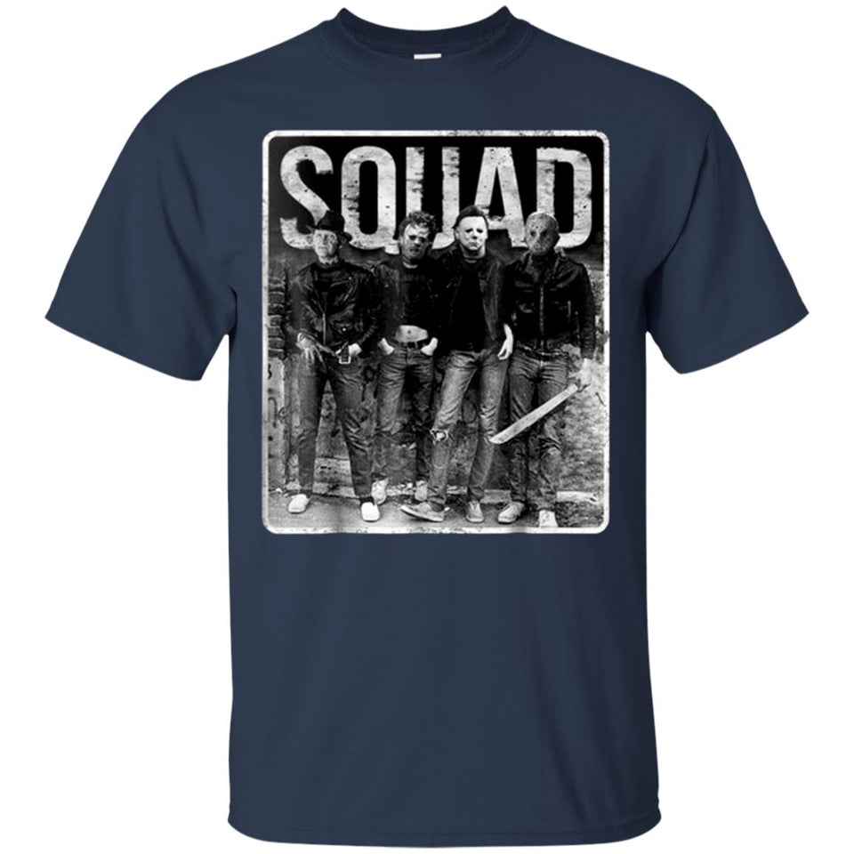 Squad Freddy Krueger Michael Myers And Jason Voorhees Tee,