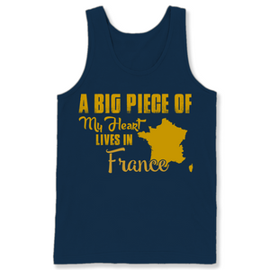 A Big Piece Of My Heart Lives In France T Shirts-New Wave Tee