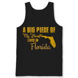 A Big Piece Of My Heart Lives In Florida T Shirts-New Wave Tee