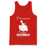 Princesses Are Born In December T Shirts-New Wave Tee