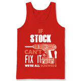 If Stock Can't Fix It We're All Screwed T Shirts-New Wave Tee