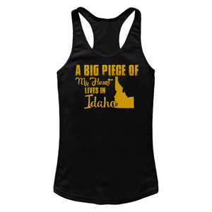 A Big Piece Of My Heart Lives In Idaho T Shirts-New Wave Tee