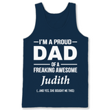 I'm A Pround DAD Of A Freaking Awesome Judith T Shirts-New Wave Tee