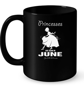 Princesses Are Born In June T Shirts-New Wave Tee