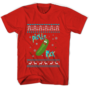 Merry Christmas Pickle Rick T Shirts-New Wave Tee