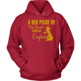 A Big Piece Of My Heart Lives In England T Shirts-New Wave Tee