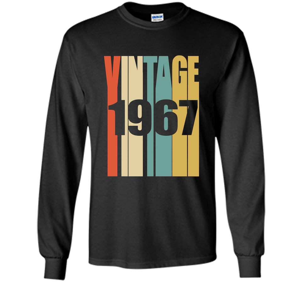 Retro Vintage 1967 T Shirt 50 Yrs Old Bday 50th Birthday Tee New Wave