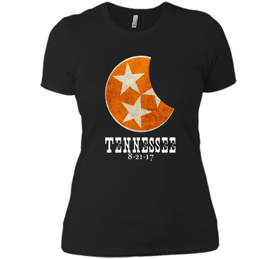 2017 Tennessee Eclipse Viewing Tee Shirt Flag I was There-New Wave Tee