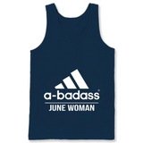 A badass June Woman T Shirts-New Wave Tee