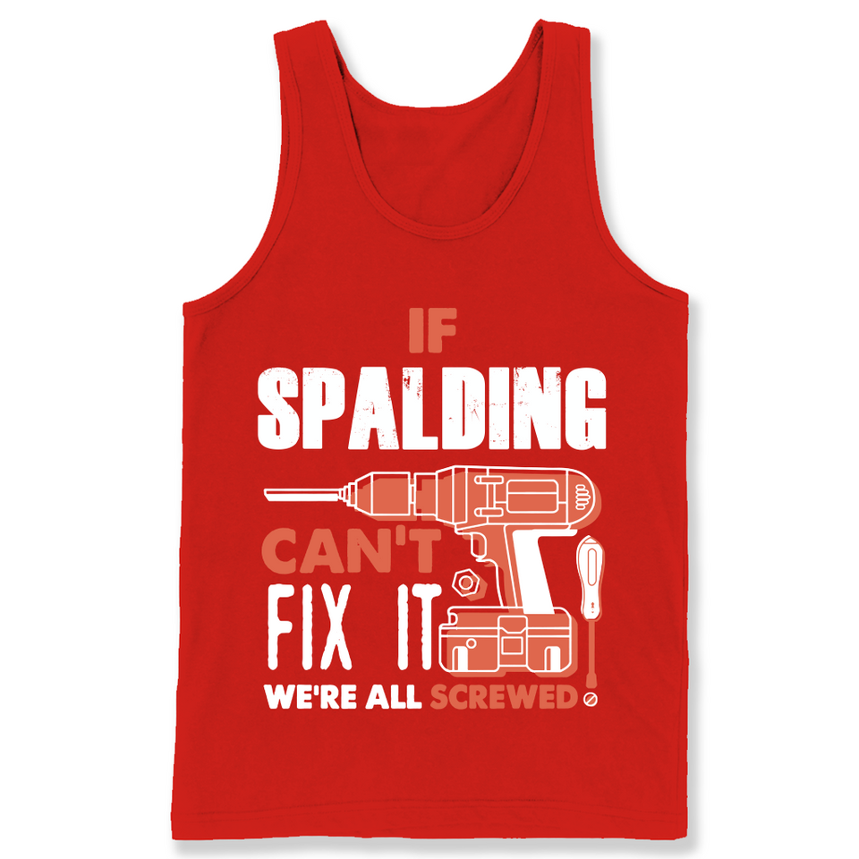 If Spalding Can't Fix It We're All Screwed T Shirts-New Wave Tee