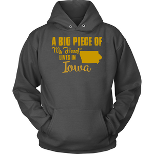 A Big Piece Of My Heart Lives In Iowa T Shirts-New Wave Tee