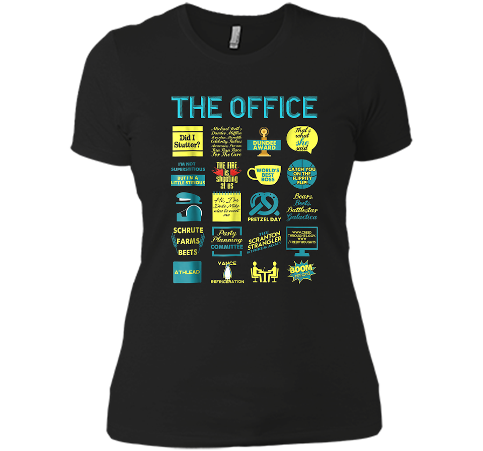 2900a8ebc The Office Quote Mash Up Funny T Shirt Official Tee – New Wave Tee
