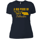 A Big Piece Of My Heart Lives In Nebraska T Shirts-New Wave Tee