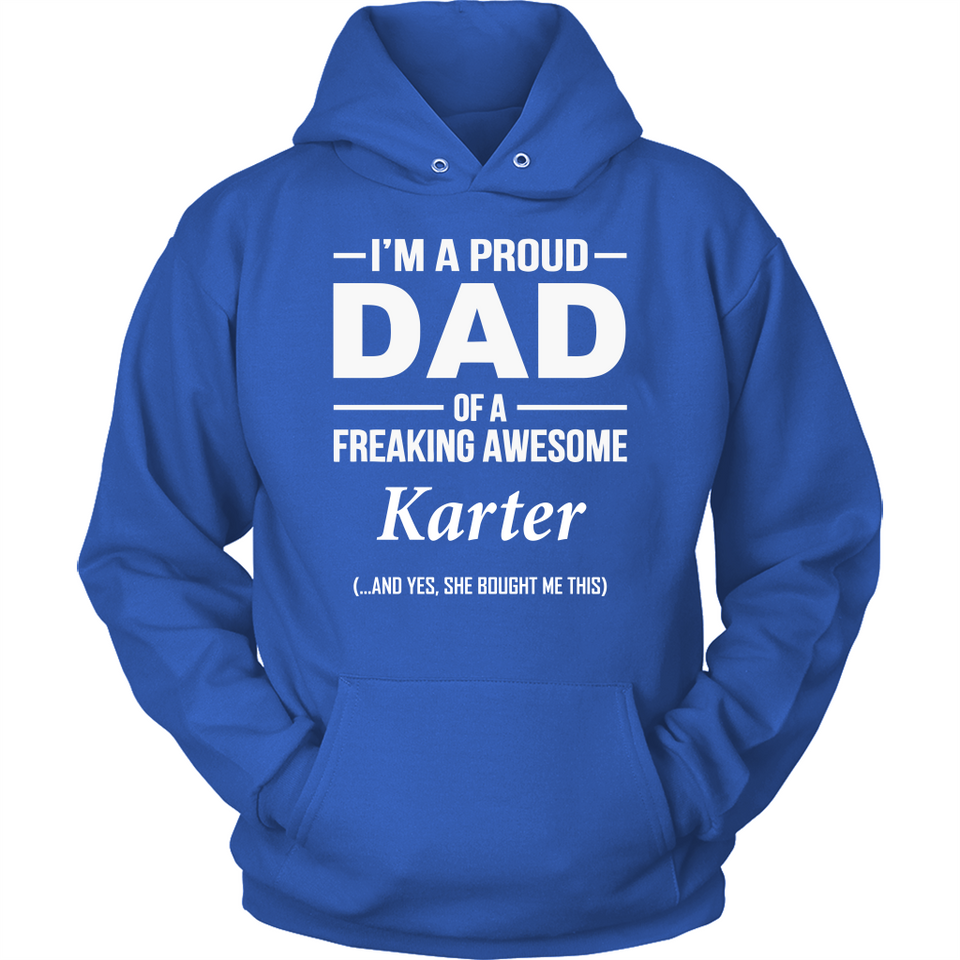 I'm A Pround DAD Of A Freaking Awesome Karter T Shirts-New Wave Tee