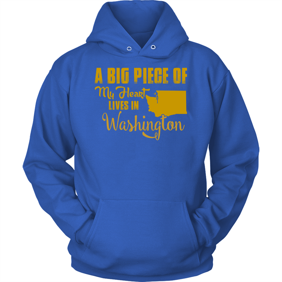 A Big Piece Of My Heart Lives In Washington T Shirts-New Wave Tee