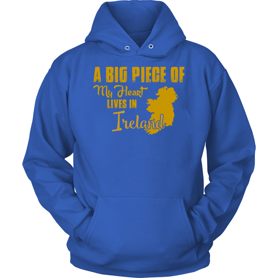 A Big Piece Of My Heart Lives In Ireland T Shirts-New Wave Tee