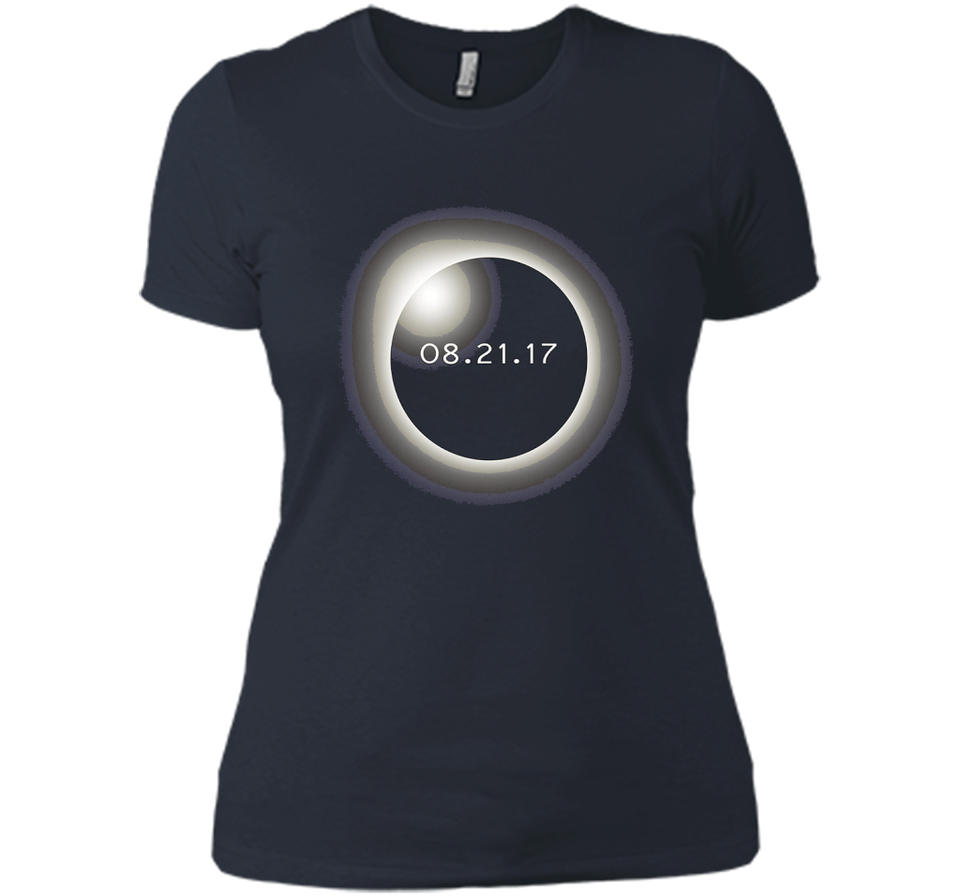 Circle Total Solar Eclipse Celestial Fanatic T-shirt-New Wave Tee