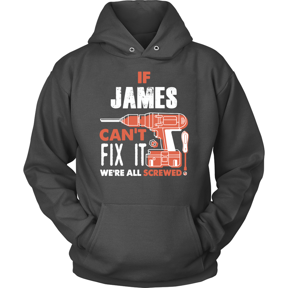 If James Can't Fix It We're All Screwed T Shirts-New Wave Tee