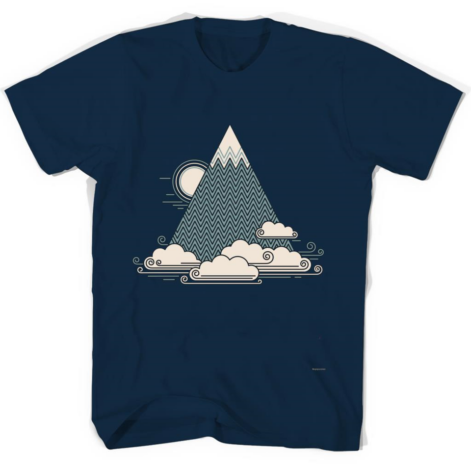 Cloud Mountain tshirt-New Wave Tee