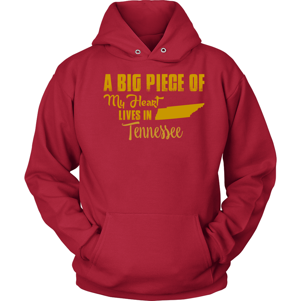 A Big Piece Of My Heart Lives In Tennessee T Shirts-New Wave Tee