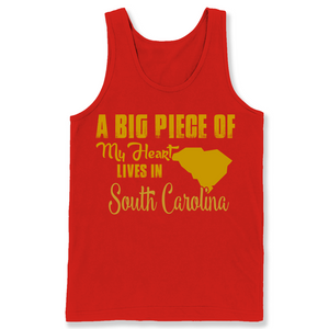 A Big Piece Of My Heart Lives In South Carolina T Shirts-New Wave Tee