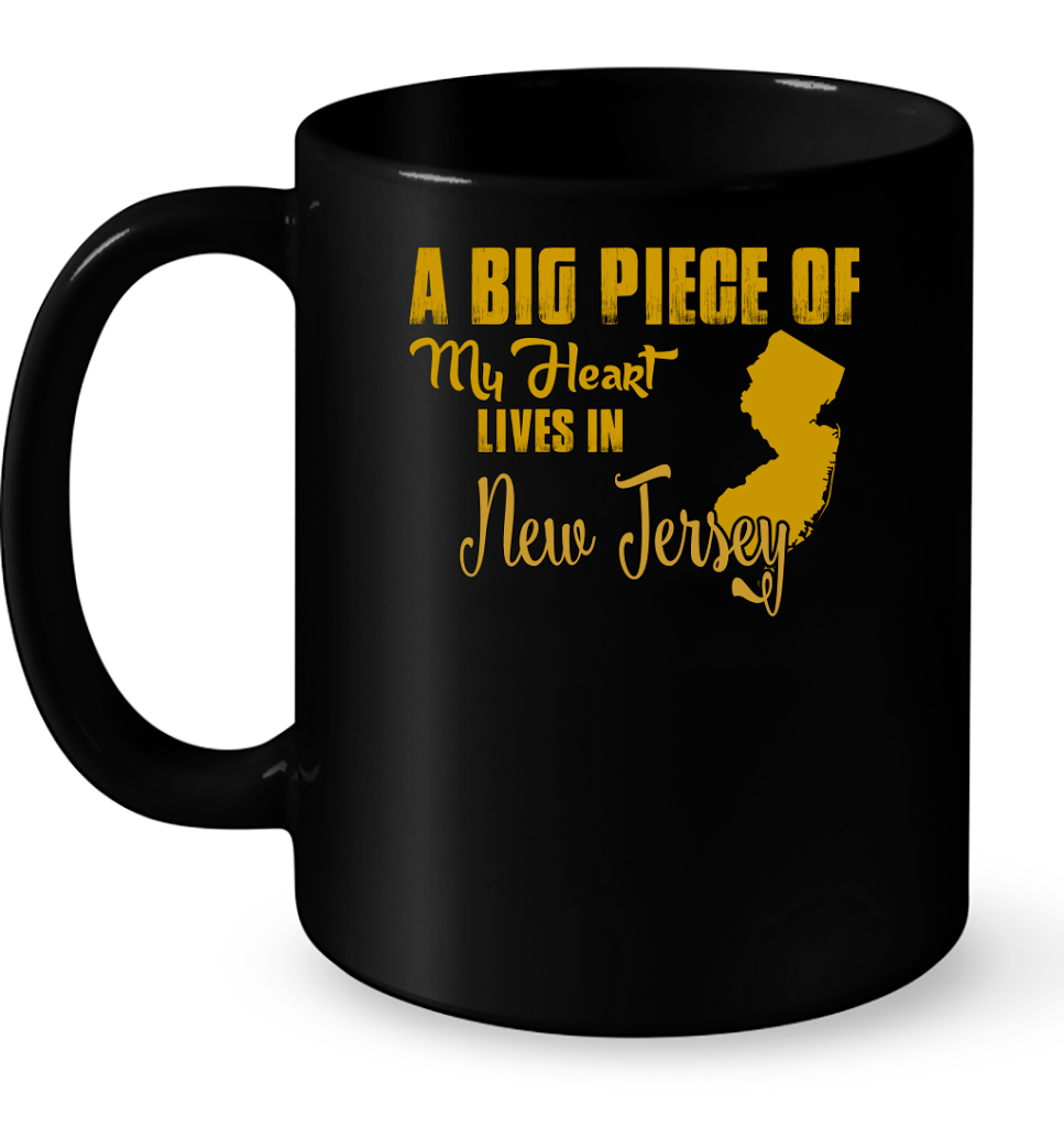 A Big Piece Of My Heart Lives In New Jersey T Shirts-New Wave Tee