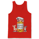 Chihuahua is Happy Pills T Shirts-New Wave Tee
