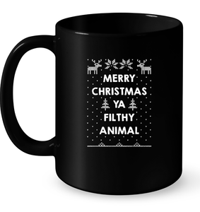 Merry Christmas Ya Filthy Animal Ugly Sweater T Shirts-New Wave Tee