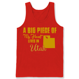 A Big Piece Of My Heart Lives In Utah T Shirts-New Wave Tee