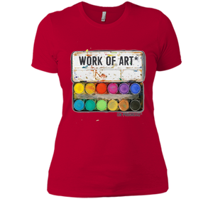 """Work of Art in Progress"" T shirt Tee, Perfect Artist Gift t-shirt-New Wave Tee"