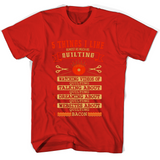 5 Things I Like Almost As Much As Quilting 1 Watching Video Of Quilting T Shirts-New Wave Tee