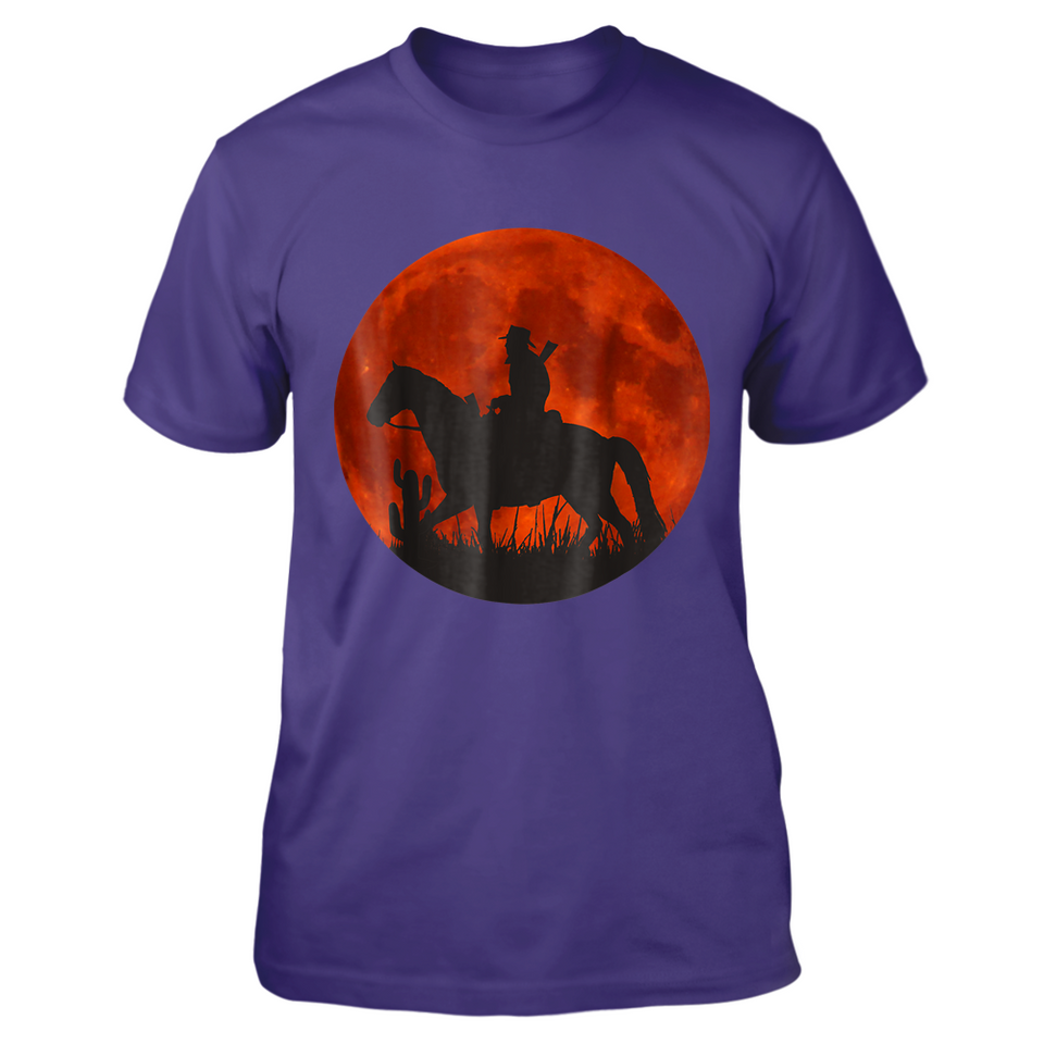 1b1318d4876 Red Moon Cowboy Red Dead Redemption 2 Tshirts – New Wave Tee
