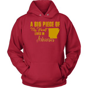 A Big Piece Of My Heart Lives In Arkansas T Shirts-New Wave Tee