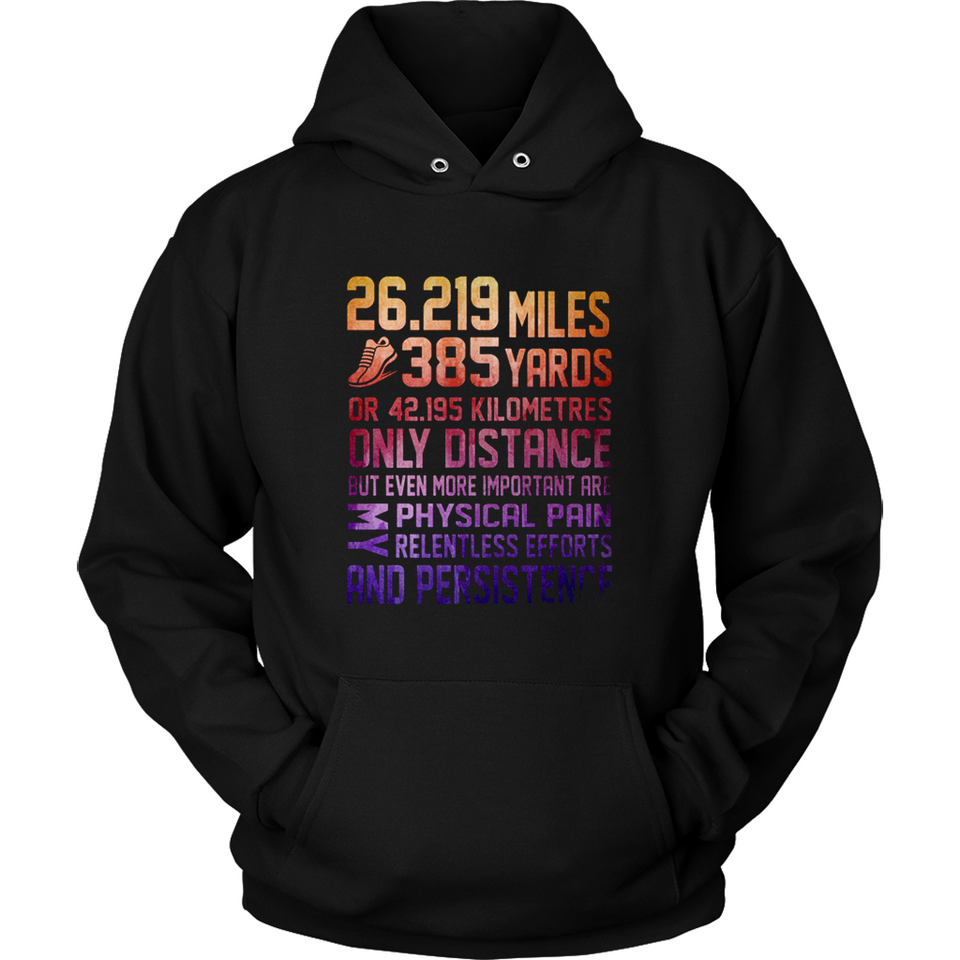 219 Miles 385 Yards Or 42195 Kilometres Only Distance T Shirts-New Wave Tee