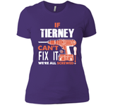 If Tierney Can't Fix It We're All Screwed T Shirts-New Wave Tee