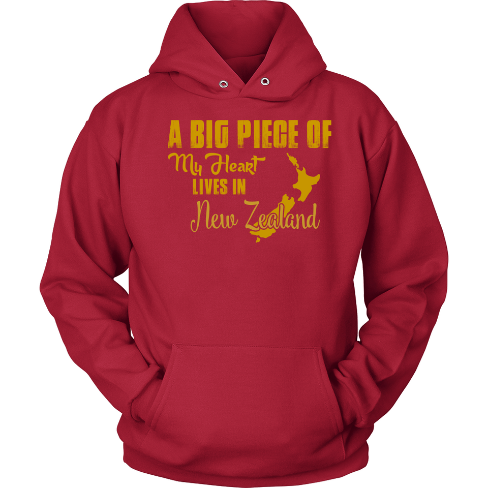 A Big Piece Of My Heart Lives In New Zealand T Shirts-New Wave Tee