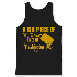 A Big Piece Of My Heart Lives In Washington D.C. T Shirts-New Wave Tee