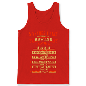 5 Things I Like Almost As Much As Rowing 1 Watching Video Of Rowing T Shirts-New Wave Tee
