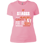 If Staggs Can't Fix It We're All Screwed T Shirts-New Wave Tee