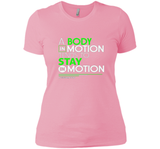 A Body In Motion Tends To Stay In Motion T Shirts-New Wave Tee