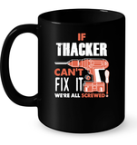 If Thacker Can't Fix It We're All Screwed T Shirts-New Wave Tee
