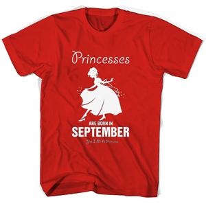 Princesses Are Born In September T Shirts-New Wave Tee