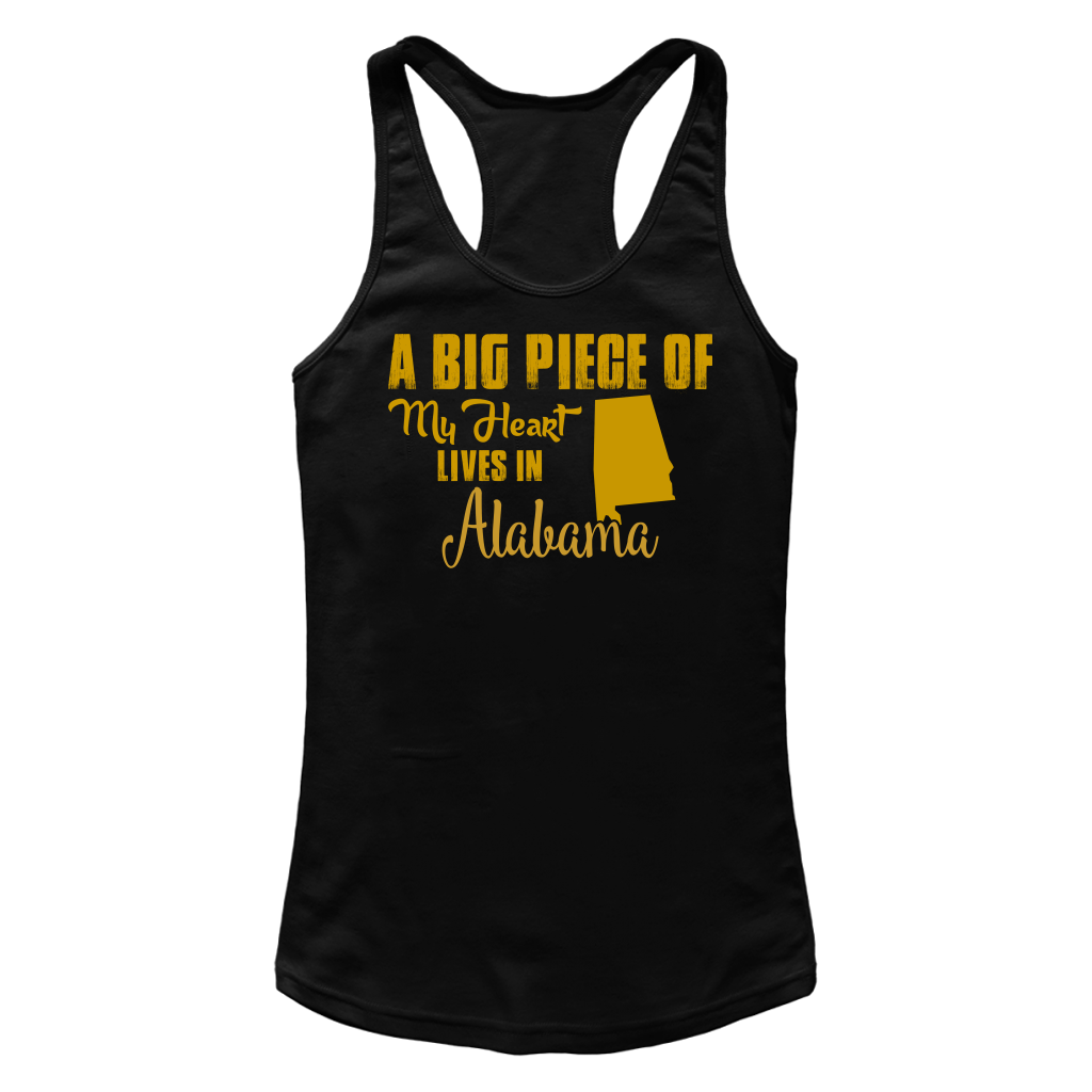 A Big Piece Of My Heart Lives In Alabama T Shirts-New Wave Tee