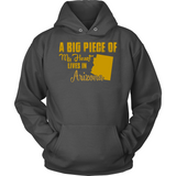 A Big Piece Of My Heart Lives In Arizona T Shirts-New Wave Tee